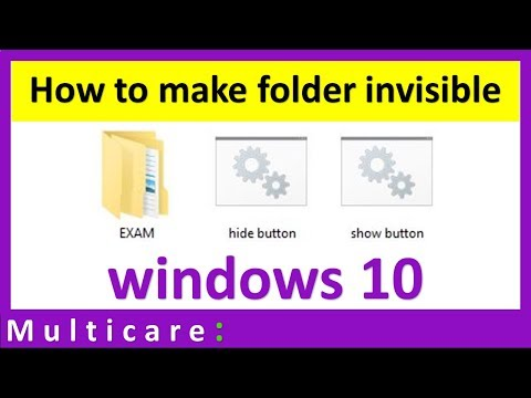 How to hide and unhide folder in windows 10 | Just by single click
