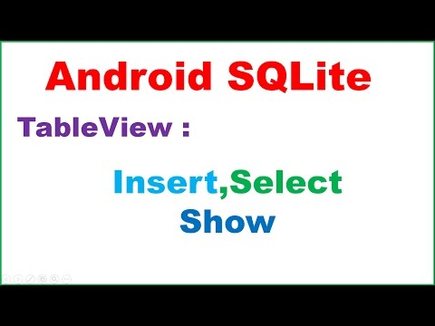 Android SQLite Ep.12: TableView -INSERT,SELECT,SHOW
