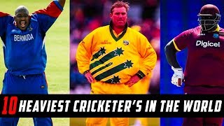 10 Heaviest Cricketer in the World