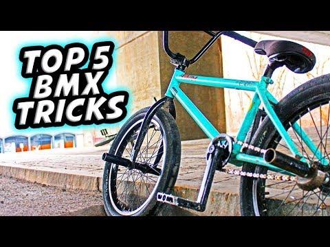 TOP 5 EASY BEGINNER BMX TRICKS!!!