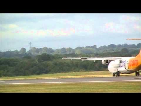 Aurigny ATR 72 and Cityjet Fooker 50 departing Manchester