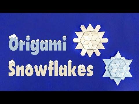 Christmas Origami Tutorial: Iimori Snowflake (Melina