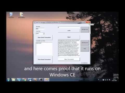 Serial Port Reader/Debugger for Windows/Windows CE [Link in Description]