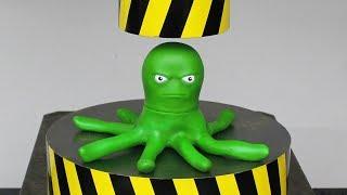 EXPERIMENT HYDRAULIC PRESS 100 TON vs Stretch Octopus