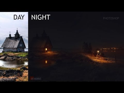 DAY tO NIGHT CONVERT || Without camera-raw Lighting || Tutorial || PHOTOSHOP
