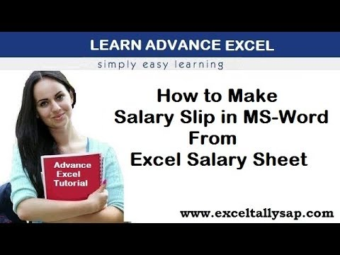 How to Make Salary Slip In MS-Word From Excel Salary Sheet