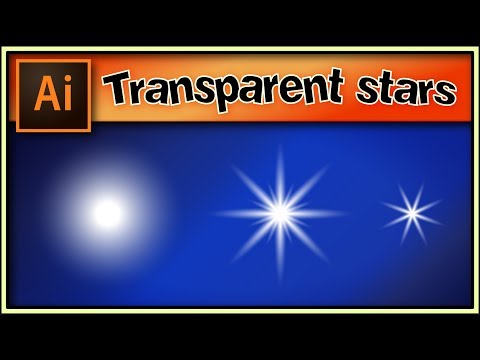 Transparent stars very quick - Awesome Adobe Illustrator tutorial