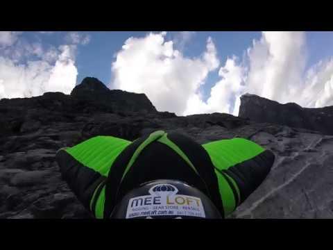 RAW Wingsuit Flight: Bispen road flyby