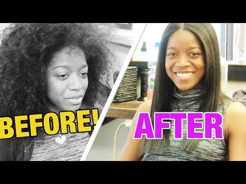 CURLY TO STRAIGHT - Natural Hair - Type 4 Hair -Tutorial - HONEY HAIR MASK