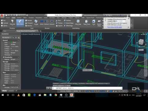AutoCAD Complete 3d House Plan (step by step) | autocad tutorial