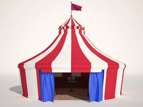 Animated Circus Tent by 3Ds Max & Vray