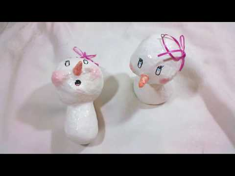 How to Make a Simple Snowman Ornament