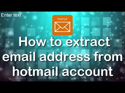 How to extract email ids from Hotmail account?