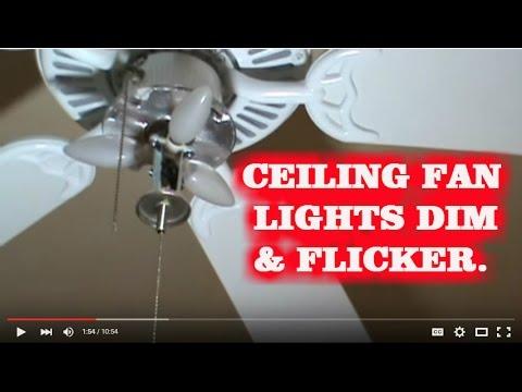 HOW TO FIX BLINKING CEILING FAN LIGHTS (KICHLER FAN)