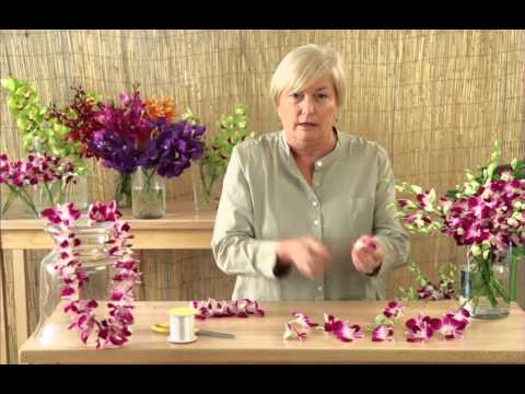 How to Make a Lei with Orchids