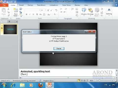 Using PowerPoint 2010 - Print Notes