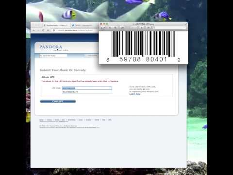 How to Submit your music to Pandora & make your UPC a Barcode