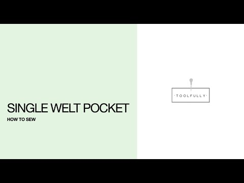 Single welt pocket How to sew.