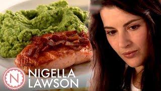 Nigella Lawson's Easy Salmon and Posh Mushy Peas   Nigella Bites