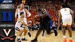 Duke vs. Virginia Condensed Game   2018-19 ACC Basketball