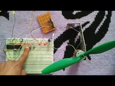 DC motor speed and direction control with PIC16F877A and CCS PIC C