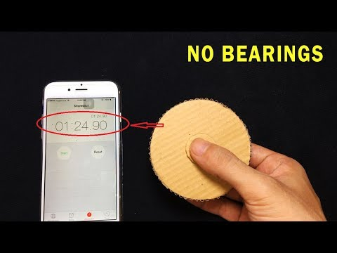 How to make Cardboard Fidget Spinner ! Spin FASTER and Longer No Bearings