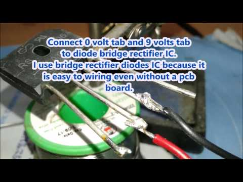 How to make a dc power supply for amplifier and electronic project.