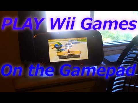 Play (old)Wii games on the Wii U gamepad [Wii U system update 10/1/13]