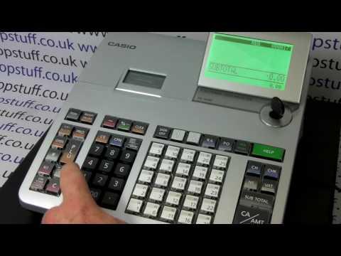 How To Print Tax / Vat On Casio SE-S400, SE-S800 Cash Register Till Receipt