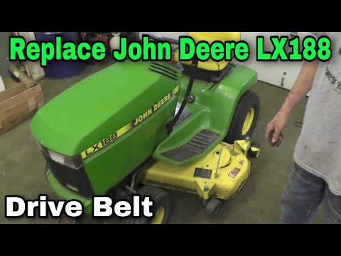 How To Replace A Drive Belt On A John Deere LX 176,178,186,188 with Taryl