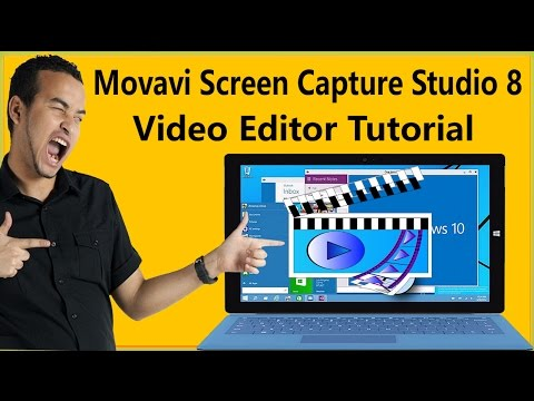 How To Use Movavi Screen Capture Studio 8 Video Editor Tutorial To Edit Recorded Videos/Create Video