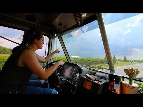 Driving Through Severe Thunderstorms in Food Truck