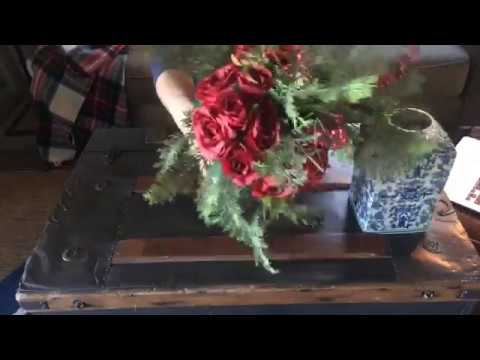 Christmas Floral Arranging Ideas / How To Make Floral Arrangements For The Holidays LIVE