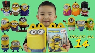 Minions Movie 2015 McDonalds Happy Meal Toys Full Set Of 14