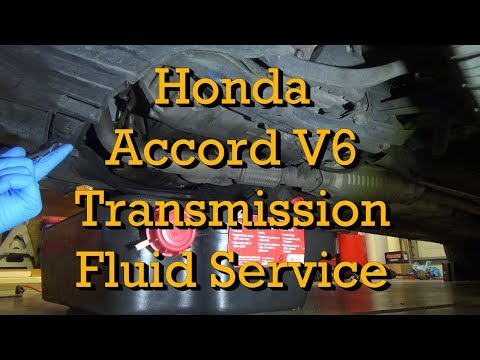 Honda Accord V6 Automatic Transmission Fluid Service 1999 (1998-2002 Similar) (Drain and Fill)