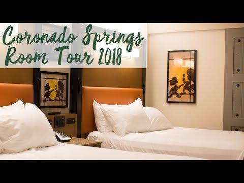 Disney's Coronado Springs Resort Refurbished Room Tour 2018   Walt Disney World