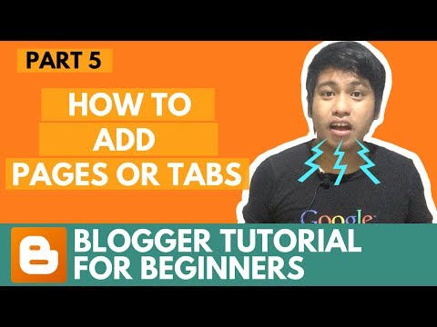 Blogger Tutorial for Beginners - How to Add Pages or Tabs - Part 5