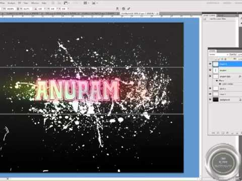 How to Make Spray Text Graphic Wallpaper in Photoshop - Professional Tutorial