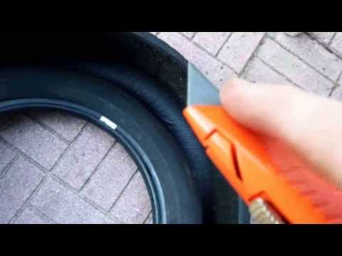 How to Cut up Old Tires for Disposal or Projects