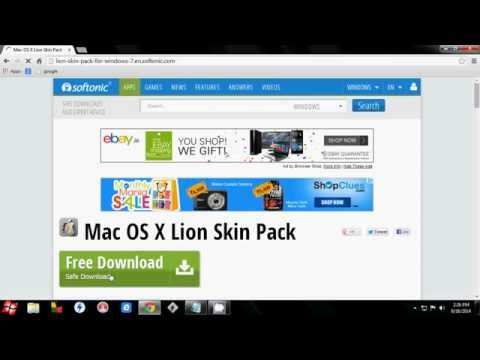 how to download mac os x lion skin pack