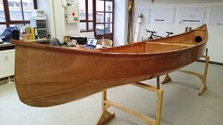Holzkanu selber bauen - Der Repovesi Kanadier als Bootsbausatz in Stitch & Glue Bauweise
