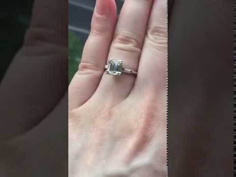 Vintage Emerald Cut Diamond Engagement Ring Video