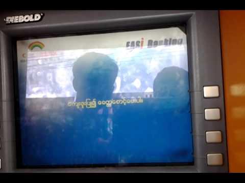 ATM visa card use in myanmar