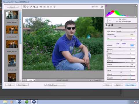 Camera RAW Batch Color Correction in Photoshop Elements