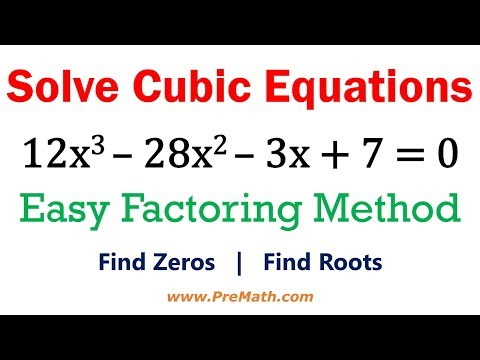 Solve Cubic Equations - Easy Factoring Method