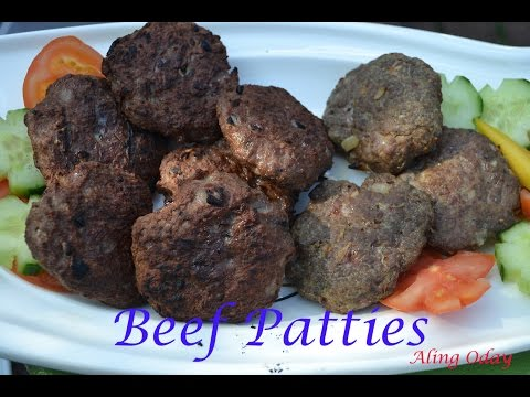 Beef Burger Patties (Filipino Version)