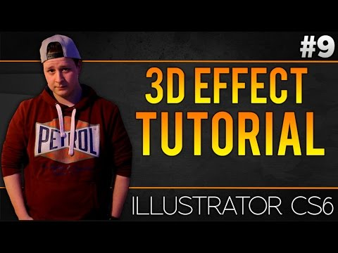 How To Make A 3D Effect In Adobe Illustrator CS6 - Tutorial #9