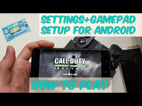How to Play Call of Duty Modern Warfare on Android Smartphone/Wii Dolphin settings+setup gamepad