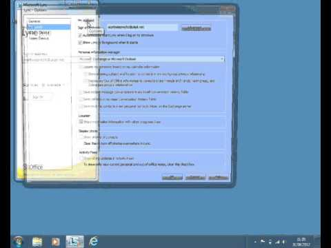 Fixing a Lync Sign-In issue