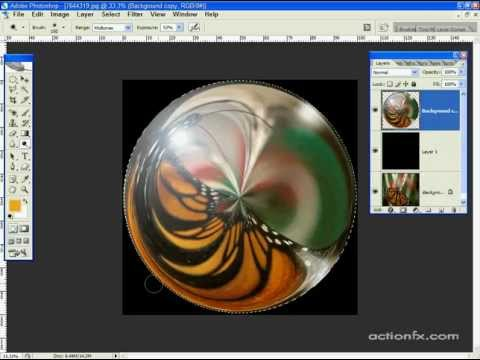 Photoshop CS2 Glass Sphere